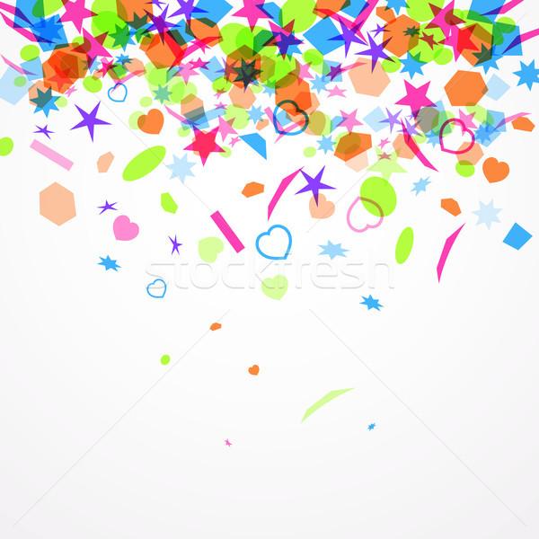 Abstrato colorido confete vetor papel Foto stock © Dahlia