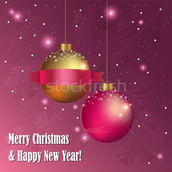 ベクトル クリスマス 装飾的な 明けましておめでとうございます グリーティングカード ストックフォト © Dahlia