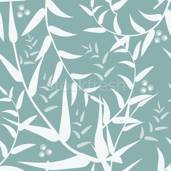 Vetor abstrato sem costura folhas textura natureza Foto stock © Dahlia