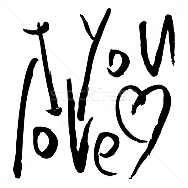 Amor palavras vetor texto mão Foto stock © Dahlia