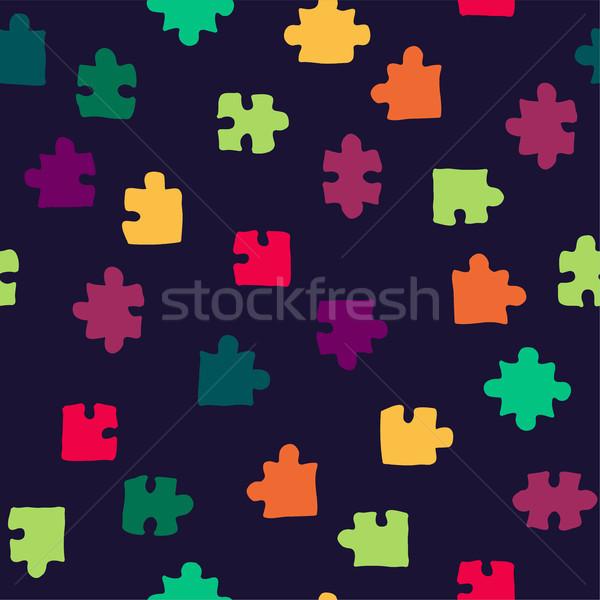 ベクトル 抽象的な シームレス パズル パターン 紙 ストックフォト © Dahlia