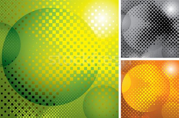 Foto stock: Vetor · abstrato · meio-tom · textura · projeto · teia