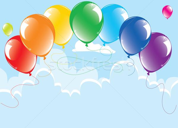 Colorido balões céu vetor monte festa Foto stock © Dahlia