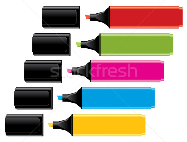 highlighters with caps Stock photo © Dahlia