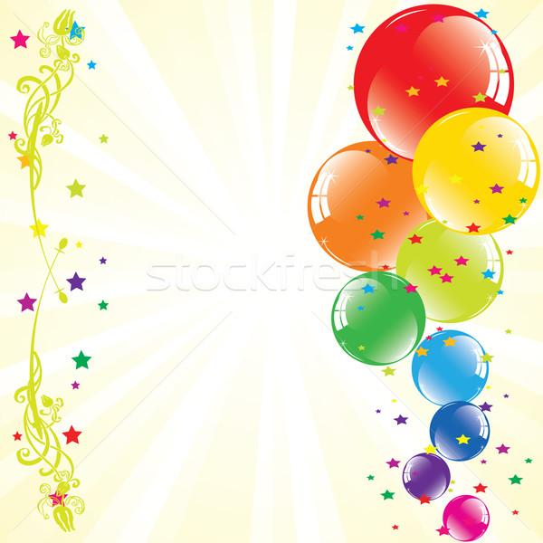Balões vetor espaço texto festa Foto stock © Dahlia