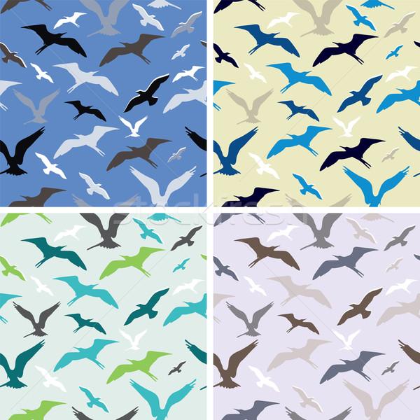 Vetor voador aves abstrato textura Foto stock © Dahlia