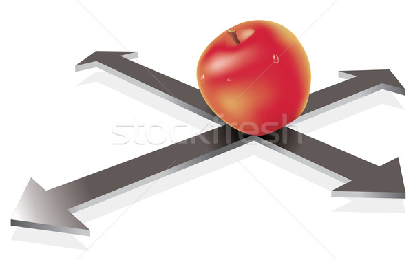 ベクトル リンゴ 交差点 抽象的な 金属 赤 ストックフォト © Dahlia