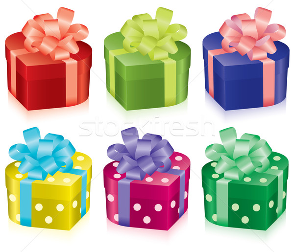 vector colorful gift boxes Stock photo © Dahlia