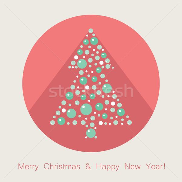 ベクトル クリスマスツリー アイコン 長い 影 ツリー ストックフォト © Dahlia