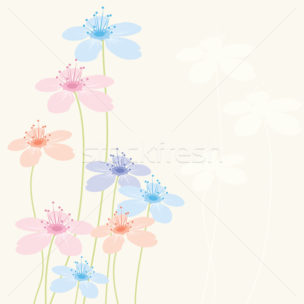 vector abstract floral background Stock photo © Dahlia