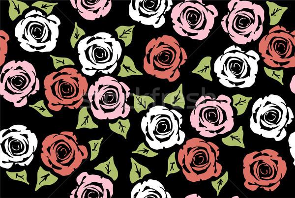 ベクトル シームレス フローラル パターン バラ 花 ストックフォト © Dahlia
