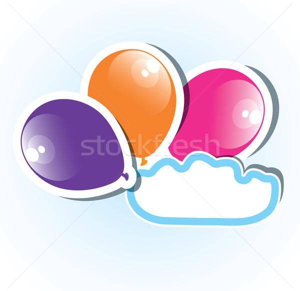 Vetor colorido papel balões cópia espaço festa Foto stock © Dahlia