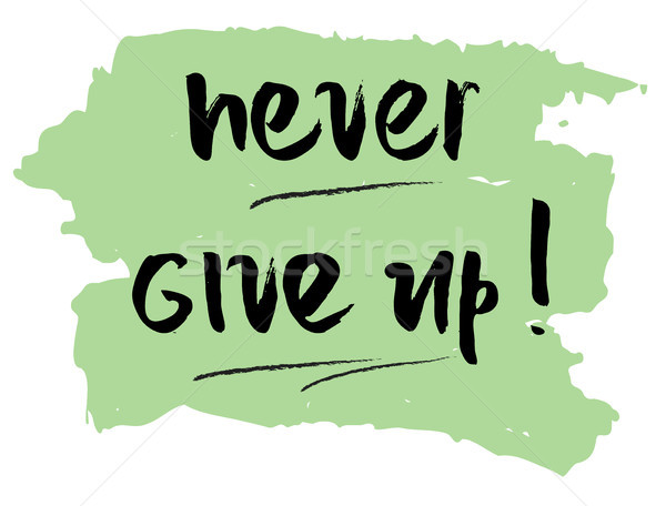 Never give up motivational quote Stock photo © Dahlia