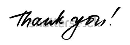 Vetor escove obrigado palavras abstrato Foto stock © Dahlia