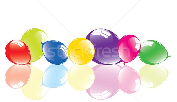 Renkli balonlar zemin parti doğum günü grup Stok fotoğraf © Dahlia