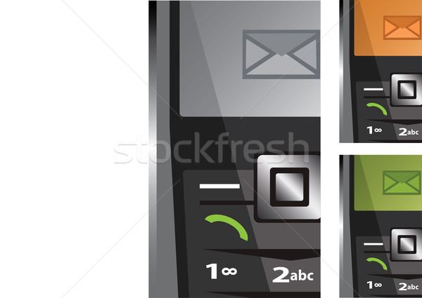 Vektor szett telefonok sms üzlet telefon Stock fotó © Dahlia