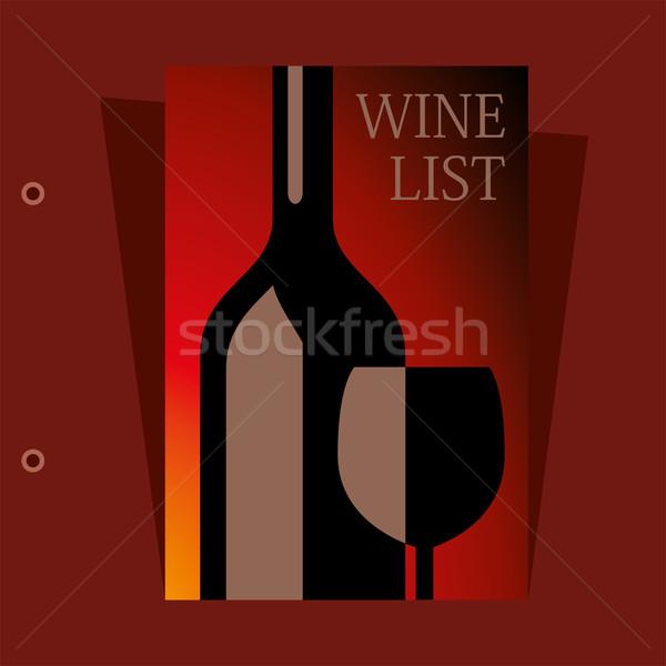 Vetor vinho lista projeto papel comida Foto stock © Dahlia