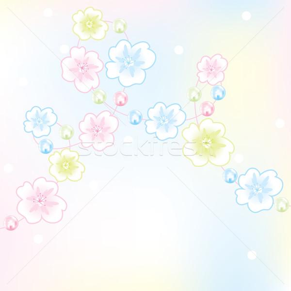 Vektör soyut çiçek dizayn güzellik Stok fotoğraf © Dahlia