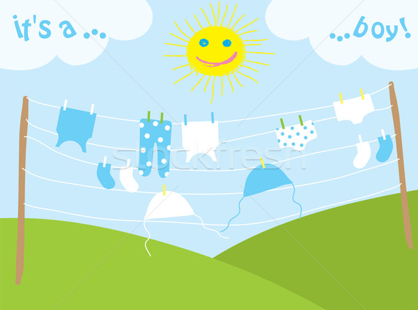 baby's clothes drying under the sun Stock photo © Dahlia