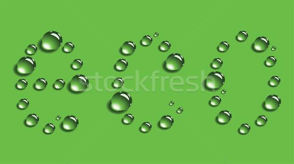 Vektör su damlası soyut hayat bitki temizlemek Stok fotoğraf © Dahlia