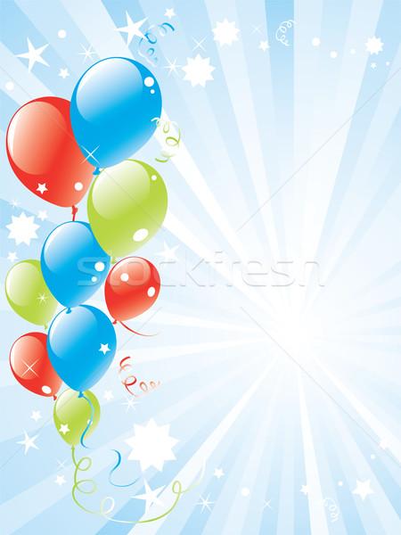 Feestelijk ballonnen vector ruimte tekst licht Stockfoto © Dahlia