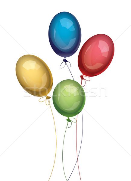 Vektör balonlar renkli mutlu doğum günü arka plan Stok fotoğraf © Dahlia