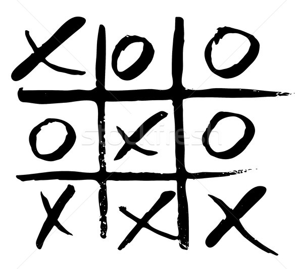 vector hand drawn noughts and crosses Stock photo © Dahlia