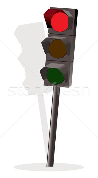 вектора светофор красный цвета лампы движения Сток-фото © Dahlia