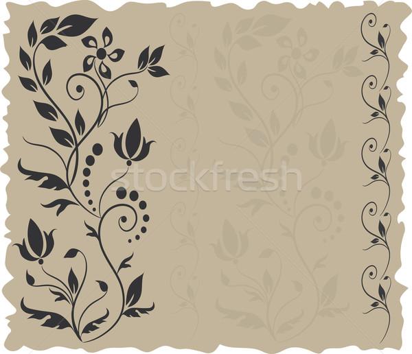 Vector kaart wenskaart ontwerp blad Stockfoto © Dahlia
