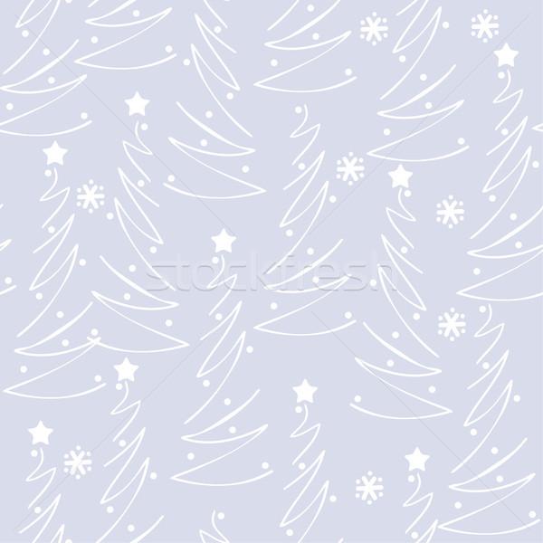 ベクトル 抽象的な シームレス 冬 パターン クリスマスツリー ストックフォト © Dahlia