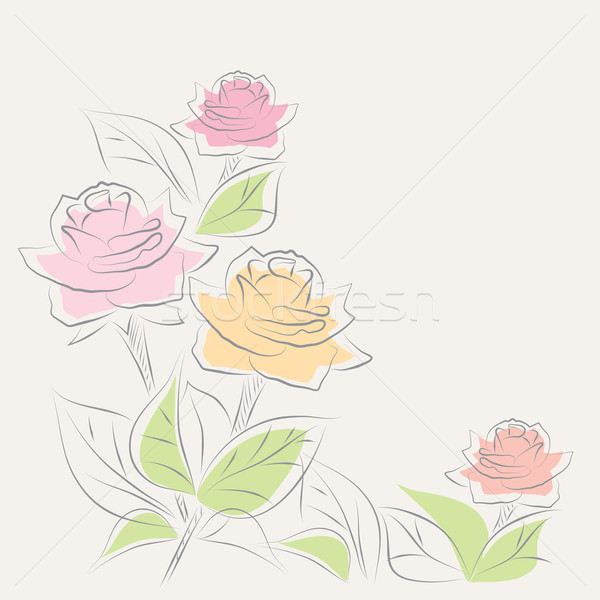 vector floral background Stock photo © Dahlia