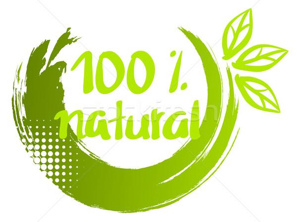 ベクトル インク 100 自然 ブラシ ストックフォト © Dahlia