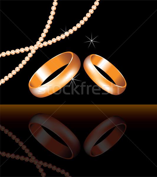 Vecteur or alliances perle perles mode Photo stock © Dahlia