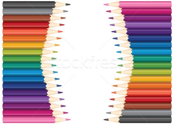 Vetor conjunto lápis madeira projeto Foto stock © Dahlia