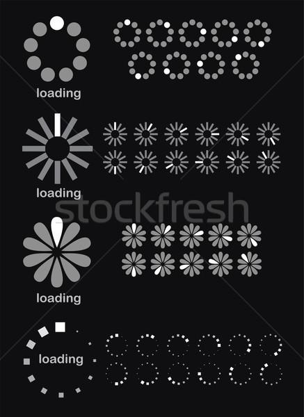 Stock photo: vector loader progress bar