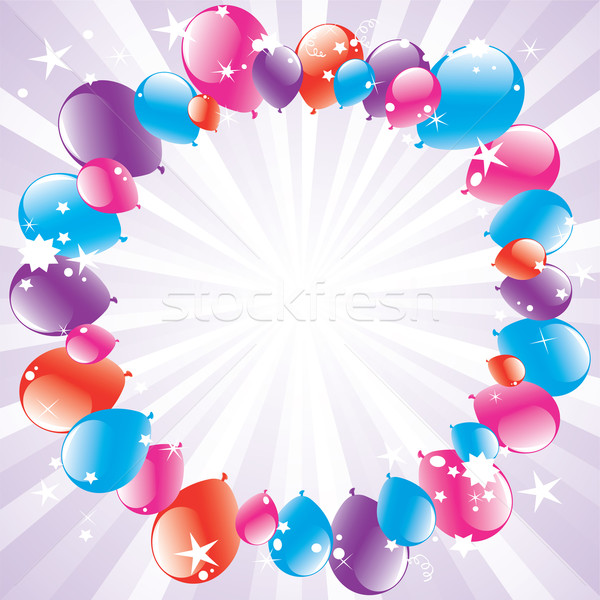 festive balloons and light-burst  Stock photo © Dahlia