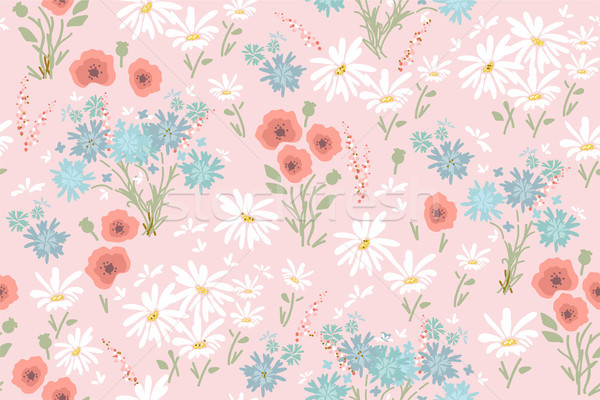 Stok fotoğraf: Vektör · model · renkli · çiçekler