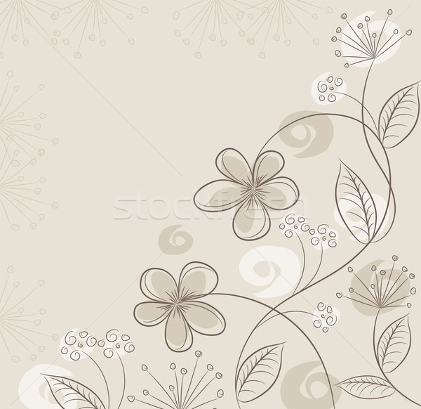 Stock photo: vector abstract floral background