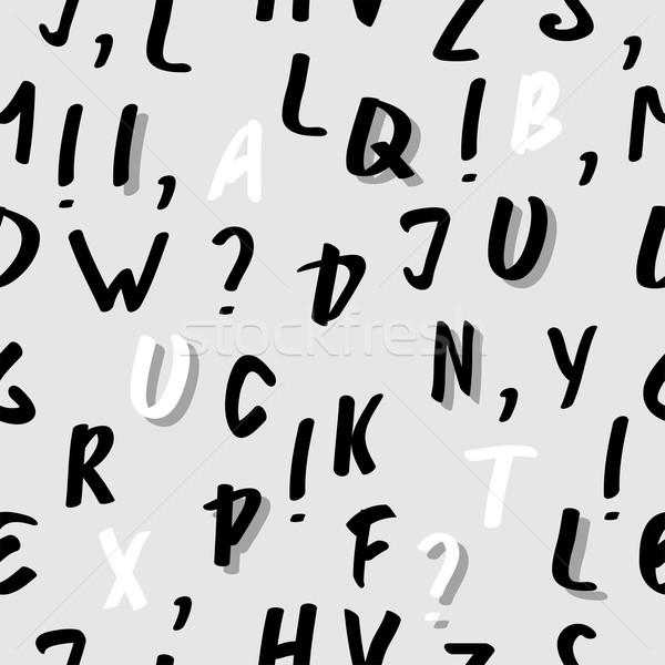 ベクトル シームレス 抽象的な アルファベット パターン 紙 ストックフォト © Dahlia
