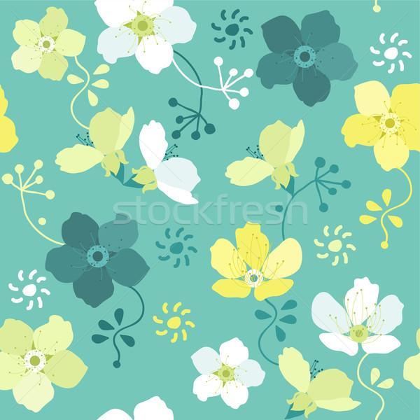 Vetor sem costura floral padrão colorido flores Foto stock © Dahlia