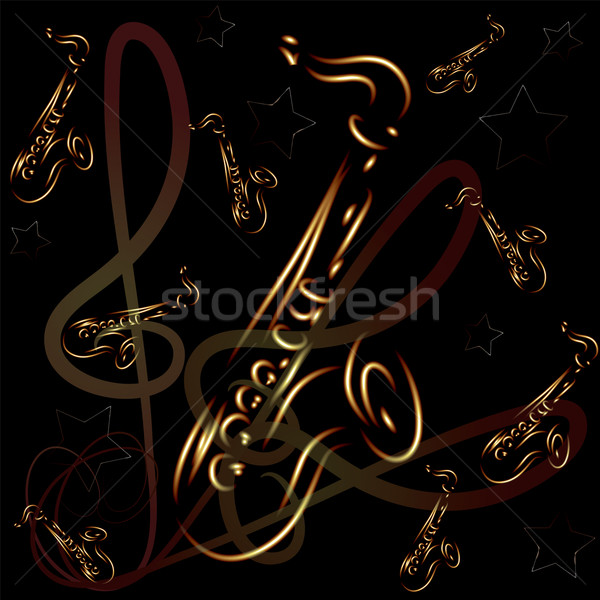saxophone on abstract background Stock photo © Dahlia