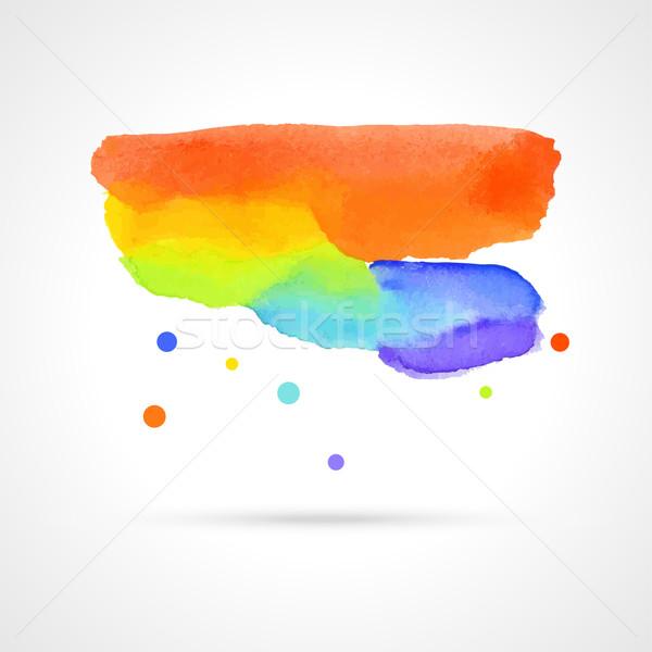 Сток-фото: аннотация · акварель · облаке · воды · краской · фон