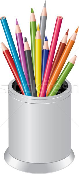 pencils in a pen-cup Stock photo © Dahlia