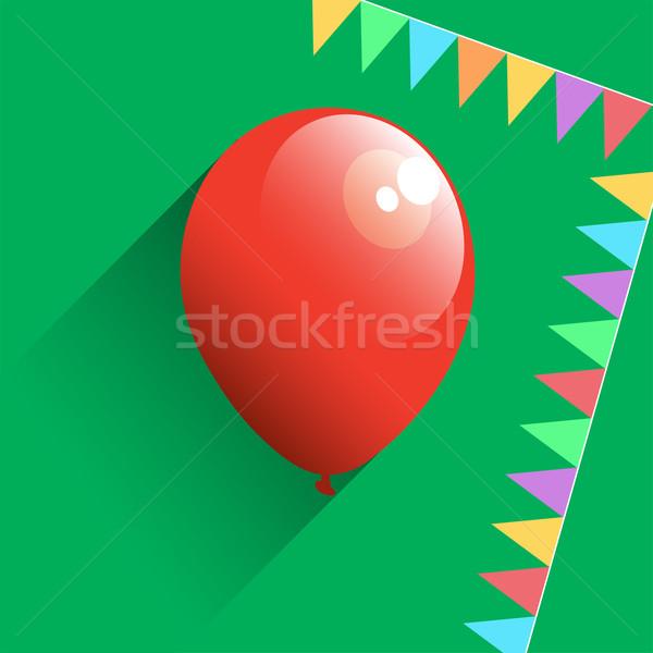 Aniversário ícone papel festa projeto Foto stock © Dahlia