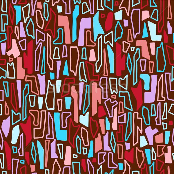Vetor abstrato geométrico formas colorido Foto stock © Dahlia