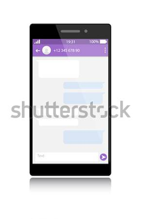 Modern smartphone with messenger window Stock photo © Dahlia