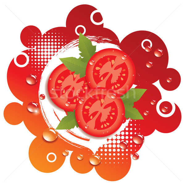 vector abstract background with fresh tomatoes Stock photo © Dahlia