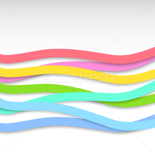 Abstract background with colorful wavy stripes. Vector illustrat Stock photo © Dahlia