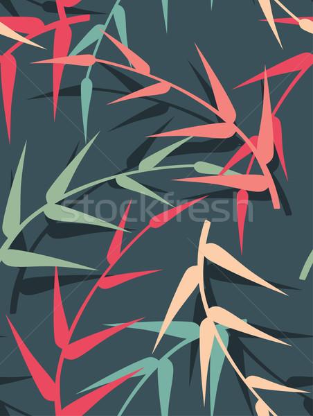 Vektör yaprakları doku doğa yaprak Stok fotoğraf © Dahlia