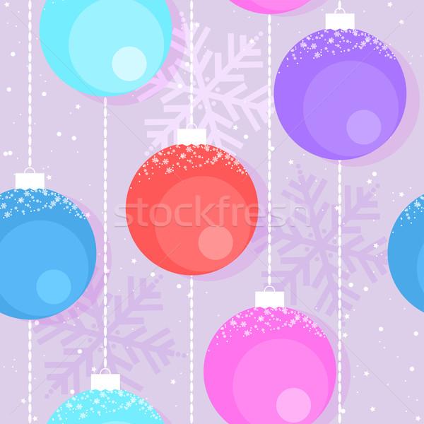 Vetor natal decorativo feliz ano novo Foto stock © Dahlia